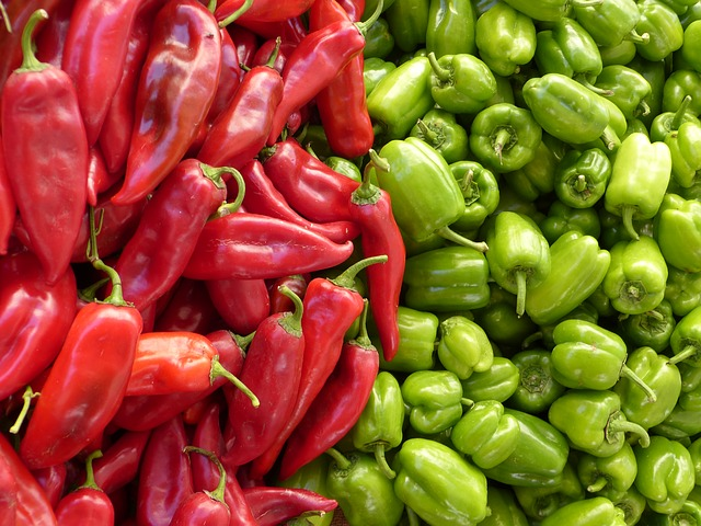 Paprika, Green, Red, Vegetables - Free image - 65270